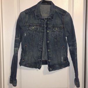 Ralph Lauren Lydia Repair Distressed Denim Jacket